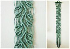 Macrame Wall Hanging  Sprig Green  Handmade Macrame by craft2joy