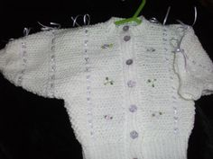 Ribbon and Bows Baby Cardi - Knitting creation by mobilecrafts | Knit.Community