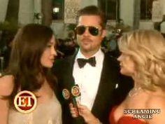 Brad Pitt & Angelina Jolie @ The Golden Globe Award 2009 - YouTube