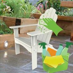 How to Clean Plastic Adirondack Chairs for your Patio.  Cleaning Plastic Patio Adirondack Chairs becomes a must especially after a particularly harsh winter since the elements can make the furniture look dingy and cause it to loose much of its durability. You may feel the need to replace outdoor furniture with newer often more expensive items amounting to several thousand dollars a year. Maintaining and cleaning is not only easy but can add years to the life of plastic furniture and extend…