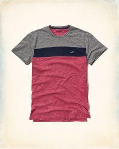 Camiseta texturizada en colores combinados