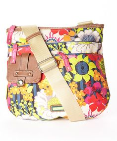 Another great find on #zulily! Pink Floral Garden Camilla Crossbody Bag by Lily Bloom #zulilyfinds