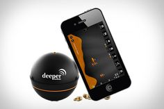 Fishing Sonar Odds are you take your phone with you fishing — despite the possibility of it getting wet — so you might as well make it useful. The Deeper Fishfinder is a small, Bluetooth-powered smart sonar that works with your phone...