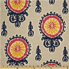 Like this fabric... not sure what to do with it. Premier Prints Michelle Nina Navy/Pink/Birch