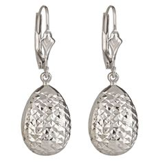 14K White Gold Diamond Cut Tear Drop Dangles  Select Jewelry™ 14K White Gold Diamond Cut Tear Drop Dangles     Please report any items that arrive damaged within 72 hours.          UNWORN can be returned within 30 days
