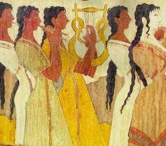 Minoan Women Ancient Greek Clothing, Ancient Greek Art, Ancient Rome, Ancient Greece, Greek History, Ancient History, Art History, Bronze Age Civilization, Minoan Art