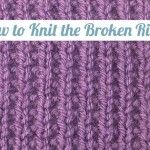 How to knit the different stitches