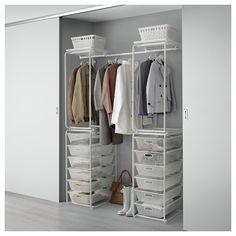 IKEA - ALGOT Frame/mesh baskets/rod for frames white