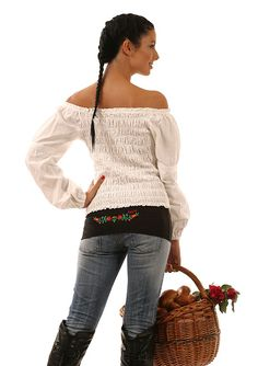 Hippsy with hungarian folk embroidery Folk Embroidery, Off Shoulder Blouse, Compliments, That Look, My Style, Pattern, Clothes, Shopping, Image