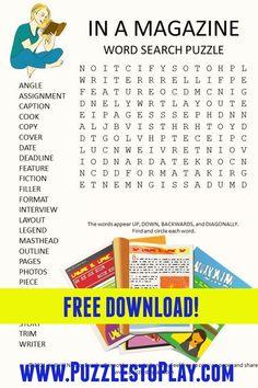 Printable Puzzles, Crossword Puzzles, Free Printable Worksheets, Free Printable Coloring Pages, Printable Labels, Free Word Search Puzzles, Kids Word Search, Word Search Games, Word Games