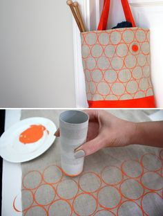 pintrest preschool toilet paper roll | DIY Toilet Paper Roll Printing on fabric -- tutorial from Lime Riot ...