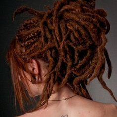 11 SE Crocheted Synthetic Natural Knotty Dread Extensions Set Short - Long Auburn Pumpkin Tapered Top Dreads Custom for Sarah.