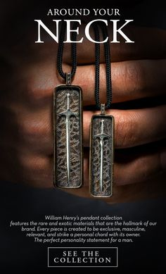 The coolest and most exclusive pendants for men.  See the full collection at www.williamhenry.com #mensjewelry #menspendants #whatguyswant ##giftsfordad #iamwilliamhenry