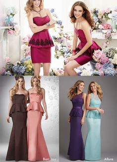 3c6424ed0234 Designer Peplum Silhouette Bridesmaid Dress Collections Wedding Season