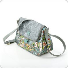 OILILY TASCHE French Flowers : M Shoulder Bag in Grey : Onlineshop