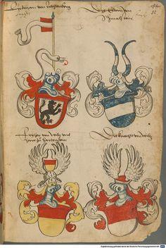 Wappen deutscher Geschlechter Augsburg ?, 4. Viertel 15. Jh. Cod.icon. 311  Folio 52r