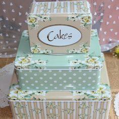 Caixa de envio gratuito de tamanho grande moda vintage retangular conjuntos de armazenamento da lata caixa de biscoitos doce dom X 3pcs Latas $26,91