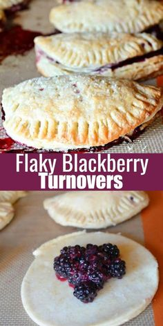 Flaky Blackberry Turnovers recipe has the best buttery flaky dough made with sour cream and filled with a well balanced blackberry filling! Our family loves them for breakfast, brunch and dessert from Serena Bakes Simply From Scratch.