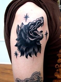 super cool wolf tattoo
