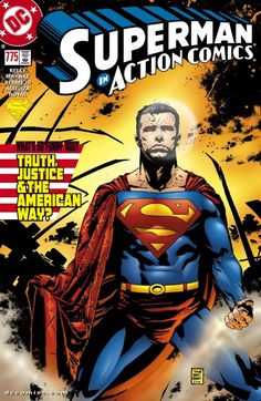 Action Comics (1938-2011) #775: Extra-sized issue! Has Superman become outdated in our modern world? A new aggressive team of metahumans called the Elite certainly thinks so, and they're about to wreck the Man of Steel's truth, justice, and American way. And if a lot of innocent bystanders get killed in the process, so be it!