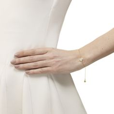 Siren Fine Chain Bracelet in 18ct Gold Vermeil on Sterling Silver with Moonstone | Jewellery by Monica Vinader