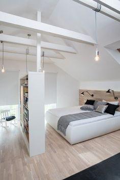 'Minimal Interior Design Inspiration' is a biweekly showcase of some of the most perfectly minimal interior design examples that we've found around the web - Bedroom Loft, Home Bedroom, Modern Bedroom, Bedrooms, Bedroom Ideas, Bedroom Designs, Master Bedroom, Bedroom Small, Bedroom Closets