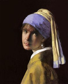 Dylan Moran as the girl with a pearl earring.     I think we can state that he is my soulmate.