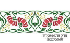 Kantbård art noveau 32 • mönsterschablon till väggar •
