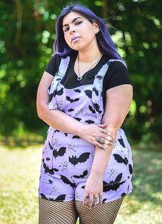 Bat Pattern Overalls – In Control Clothing Harajuku Fashion, Kawaii Fashion, Fashion Outfits, Harajuku Girls, Fashion Styles, Alternative Outfits, Alternative Fashion, Alternative Style, Pastel Goth Outfits