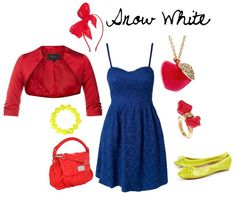 Snow White Inspired Outfit -   I'm not a huge Disney princess fan, but I have to say this is a cool idea!