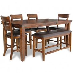 CROWN MARK FIGARO PUB TABLE SET- DINING TABLE, SET, ROOM Gallery Furniture