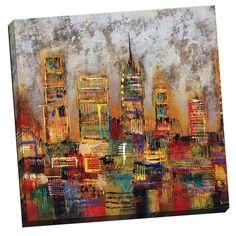 City Lights Gallery-wrapped Canvas - Overstock™ Shopping - Top Rated Canvas