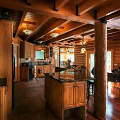 140 Best Log Cabin Kitchen Images Log Home Log Cabin Kitchens