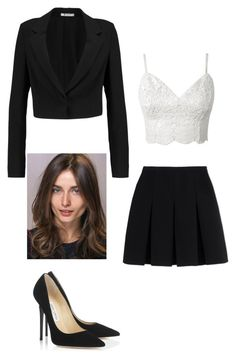 """Untitled #211"" by yasminabuwi on Polyvore featuring Alexander Wang, T By Alexander Wang and Jimmy Choo"