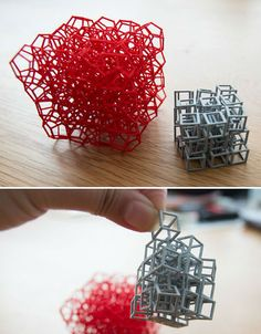 09a11  3D Printed Interlocking Cubes 3D Printed Decoration Design Objects