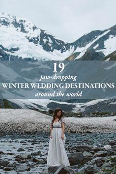 jaw dropping winter wedding destinations