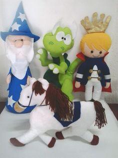 Rei Artur- Trabalho inspirado em moldes de outros artesãos devido a pedido dos clientes.