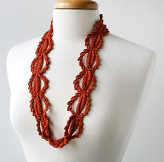 Silk Crochet Lace Necklace