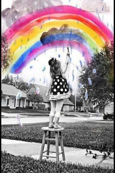 .Oh my gosh I love this idea take a painting from the kids and combine into their photo outdoors!! Gah!!