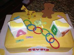 Baby Shower Cake. Gender reveal. It's a BOY :)