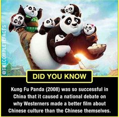 Kung fu panda prompts soul- searching in chaina ! Wierd Facts, Wow Facts, Intresting Facts, True Facts, Funny Facts, Some Amazing Facts, Interesting Facts About World, Unbelievable Facts, Interesting Reads
