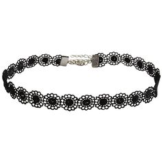 Amazon.com: Jane Stone Vintage Black Lace Sunflower Tattoo Gothic... ($5.99) ❤ liked on Polyvore featuring jewelry, necklaces, vintage jewelry, goth necklace, black necklace, cross necklace and tattoo choker necklace