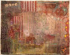huguettecaland:        Sofar      48cm x 60cm, mixed media on linen, 2009
