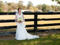 Bridal on horse farm - Camden, SC  www.jmbphotographysc.com