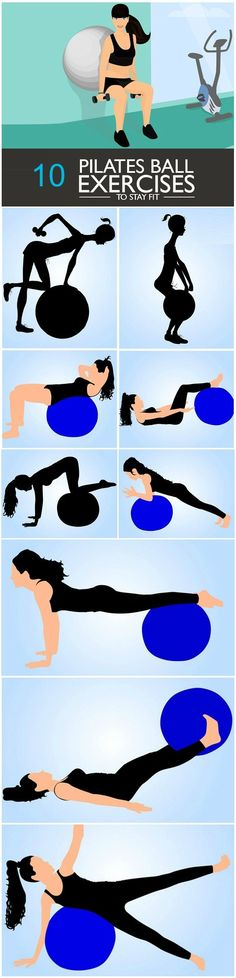 Pilates Exercises To Increase Your Height Pilates Ball Exercises : Want to know what they are? Go ahead with your read!Pilates Ball Exercises : Want to know what they are? Go ahead with your read! Fitness Workouts, Fitness Diet, At Home Workouts, Fitness Motivation, Health Fitness, Ball Workouts, Fitness Pilates, Enjoy Fitness, Pilates Training