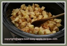 Crockpot Applesauce- after its done you can waterbath can it.. 20 minutes processing time.