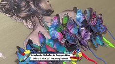 Como Hacer Mariposas Coloridas en Tecnica Mixed Media- HomeArtTv por Jua...