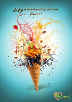 Steve's Ice cream ad on Behance Ice Cream Logo, Ice Cream Poster, Ice Cream Art, Ice Cream Design, Ice Cream Brands, Food Poster Design, Food Design, Ice Cream Background, Matcha Cupcakes
