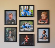 hanging pictures 101 - how to hand a group of photos