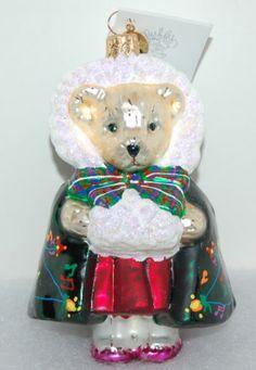 Ret Mint Radko Bearly in Tune Muffy Vander Bear Christmas Ornament 00 NAB 01   eBay